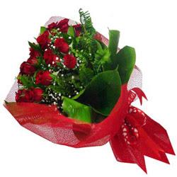 Kütahya çiçek siparişi sitesi  12 adet kirmizi essiz gül buketi - SEVENE ÖZEL