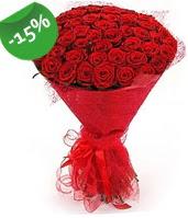 51 adet kırmızı gül buketi özel hissedenlere  Kütahya kaliteli taze ve ucuz çiçekler