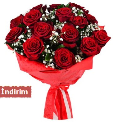 12 Adet kırmızı aşk gülleri  Kütahya anneler günü çiçek yolla