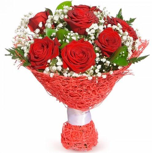 7 adet kırmızı gül buketi  Kütahya yurtiçi ve yurtdışı çiçek siparişi