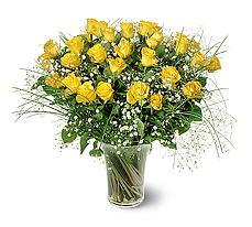 Kütahya kaliteli taze ve ucuz çiçekler  15 adet sarigül mika yada cam vazoda
