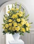 Kütahya kaliteli taze ve ucuz çiçekler  sari güllerden sebboy tanzim çiçek siparisi