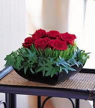 Kütahya kaliteli taze ve ucuz çiçekler  10 adet kare mika yada cam vazoda gül tanzim