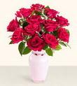 Kütahya çiçek servisi , çiçekçi adresleri  10 kirmizi gül cam yada mika vazo tanzim