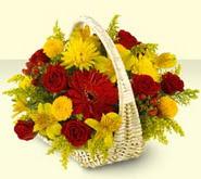 Kütahya çiçekçi telefonları  sepette mevsim çiçekleri