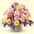 Kütahya çiçek gönderme  sepet içerisinde gül ve mevsim