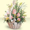 Kütahya çiçekçi telefonları  sepette pembe güller