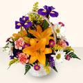 Kütahya çiçekçi telefonları  sepet içinde karisik çiçekler