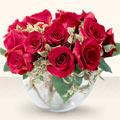 Kütahya ucuz çiçek gönder  mika yada cam içerisinde 10 gül - sevenler için ideal seçim -