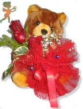 oyuncak ayi ve gül tanzim  Kütahya yurtiçi ve yurtdışı çiçek siparişi
