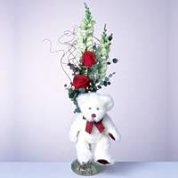 2 adet gül ve panda özel  Kütahya çiçek mağazası , çiçekçi adresleri