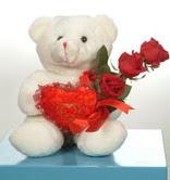 3 adetgül ve oyuncak   Kütahya internetten çiçek siparişi