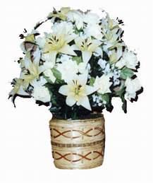 yapay karisik çiçek sepeti   Kütahya çiçekçi mağazası