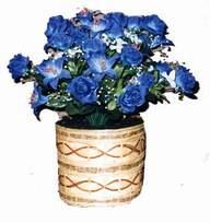 yapay mavi çiçek sepeti  Kütahya çiçek yolla