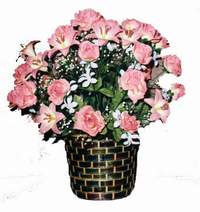 yapay karisik çiçek sepeti  Kütahya ucuz çiçek gönder