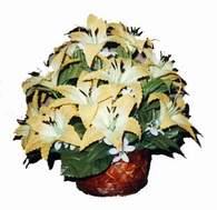 yapay karisik çiçek sepeti   Kütahya kaliteli taze ve ucuz çiçekler