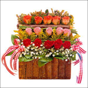 sandikta 3 kat güllerden   Kütahya çiçek yolla