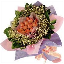 11  adet  gül ve   elyaflar   Kütahya çiçek mağazası , çiçekçi adresleri