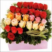 15 adet renkli gül ve cam   Kütahya çiçek mağazası , çiçekçi adresleri