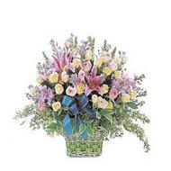 sepette kazablanka ve güller   Kütahya uluslararası çiçek gönderme