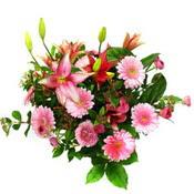 lilyum ve gerbera çiçekleri - çiçek seçimi -  Kütahya uluslararası çiçek gönderme