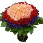 71 adet renkli gül buketi   Kütahya çiçek online çiçek siparişi