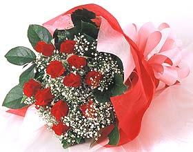 12 adet kirmizi gül buketi  Kütahya çiçek gönderme sitemiz güvenlidir