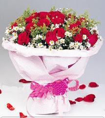 Kütahya güvenli kaliteli hızlı çiçek  12 ADET KIRMIZI GÜL BUKETI