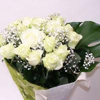 Kütahya çiçek servisi , çiçekçi adresleri  11 adet sade beyaz gül buketi