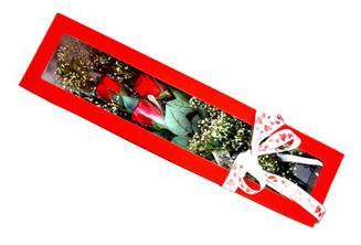 Kütahya çiçek servisi , çiçekçi adresleri  Kutuda 3 adet gül