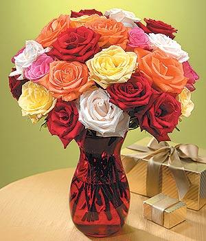Kütahya çiçek satışı  13 adet renkli gül