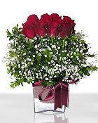 Kütahya hediye sevgilime hediye çiçek  11 adet gül mika yada cam - anneler günü seçimi -