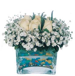 Kütahya çiçek mağazası , çiçekçi adresleri  mika yada cam içerisinde 7 adet beyaz gül