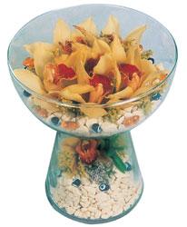 Kütahya kaliteli taze ve ucuz çiçekler  Cam içerisinde 4 adet kandil orkide