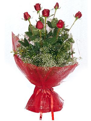 Kütahya hediye çiçek yolla  7 adet gülden buket görsel sik sadelik