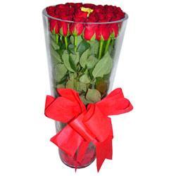 Kütahya ucuz çiçek gönder  12 adet kirmizi gül cam yada mika vazo tanzim