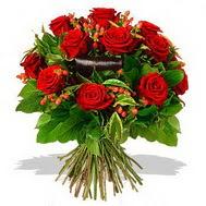 9 adet kirmizi gül ve kir çiçekleri  Kütahya güvenli kaliteli hızlı çiçek