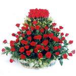 Kütahya çiçek siparişi sitesi  41 adet kirmizi gülden sepet tanzimi