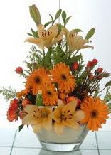Kütahya hediye çiçek yolla  cam yada mika vazo içinde karisik mevsim çiçekleri