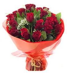 Kütahya çiçek satışı  11 adet kimizi gülün ihtisami buket modeli