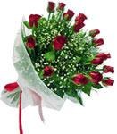 Kütahya güvenli kaliteli hızlı çiçek  11 adet kirmizi gül buketi sade ve hos sevenler