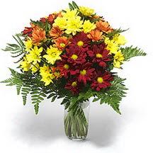 Kütahya kaliteli taze ve ucuz çiçekler  Karisik çiçeklerden mevsim vazosu
