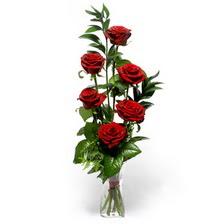 Kütahya çiçek gönderme  mika yada cam vazoda 6 adet essiz gül