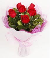 9 adet kaliteli görsel kirmizi gül  Kütahya uluslararası çiçek gönderme