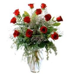 Vazo içerisinde 11 kirmizi gül  Kütahya çiçek yolla , çiçek gönder , çiçekçi