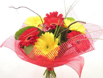 9 adet gerbera çiçeklerinden buket  Kütahya anneler günü çiçek yolla