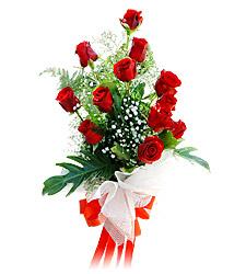 11 adet kirmizi güllerden görsel sölen buket  Kütahya çiçek yolla , çiçek gönder , çiçekçi