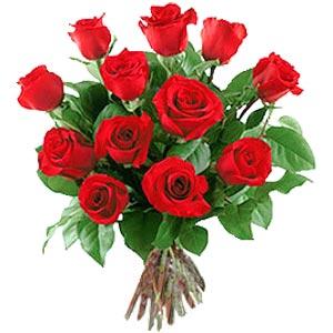 11 adet bakara kirmizi gül buketi  Kütahya internetten çiçek satışı