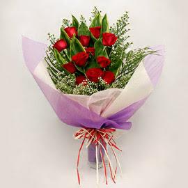 çiçekçi dükkanindan 11 adet gül buket  Kütahya çiçek mağazası , çiçekçi adresleri