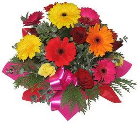 Karisik mevsim çiçeklerinden buket  Kütahya çiçek , çiçekçi , çiçekçilik